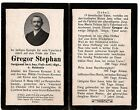 WWI German Bavaria Death Card  - killed soldier religious funeral Iron Cross 2K