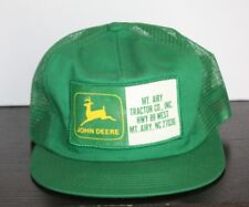 Vintage John Deere Patch Dealer Hat MT AIRY Mayberry NC Trucker K products USA
