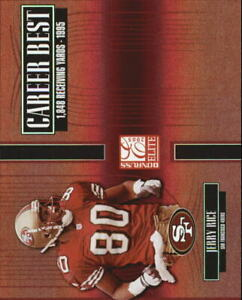 2005 Donruss Elite Career Best Red #CB23 Jerry Rice /1000 - NM-MT