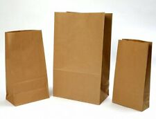 More details for paper grab bag - kraft brown sos compostable takeaway food bag without handles