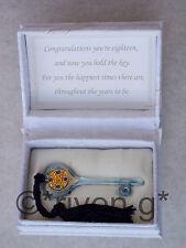 18th Birthday@Key au Door@Floral Boîte @ verset @ Glass@Male Gift@Blue Tassles@GOLD