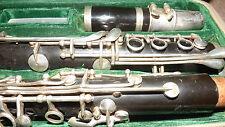 More details for  vintage hsinghai clarinet in original leather case