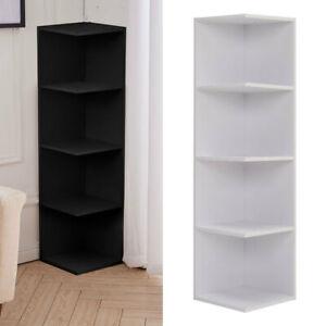 Small Corner Bookshelf Wood Freestanding Display Shelf Organiser Storage Rack UK