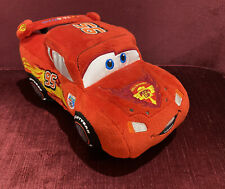 BIG 8 INCH LIGHTNING MCQUEEN CARS PLUSH PIXAR DISNEY STORE EXCLUSIVE + TAGS EXC!