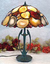 Lujo achatlampe mesa lámpara Edelstein lámpara lámpara Bernstein Tiffany achat nuevo