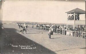 "H43/ Sports Postcard RPPC c1910 Gus Nylen Rodeo ""Teddy Roosevelt"" 12"