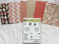 Stampin Up! Candy Cane Christmas~clear mount stamp set & Candy Cane Lane DSP
