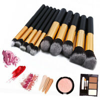 Kaizm 10Pcs Best Makeup Brushes Set Powder Blusher Foundation Kabuki Contour US