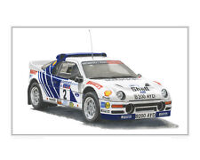 Ford RS200 - Limited Edition Classic Rally Car Print Poster by Steve Dunn