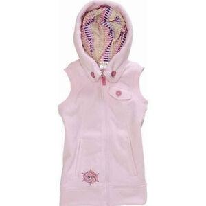 Burton Starrlight Fleece Vest Jacket Girls XL Juniors Womens S pink