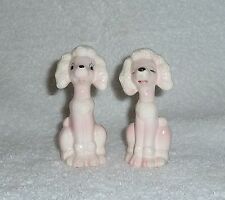 Vintage 1950s Pink Poodle Rockabilly Salt and Pepper Shakers Mid-Century Kitsch