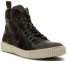 John Varvatos Sanded & Painted Resilient Suede High-Top Sneakers 12 US New