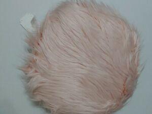 Pottery Barn Teen Himalayan Faux Fur Furrific Round Pillow Blush NWT