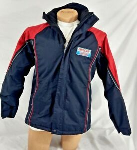 QUIKSILVER Snowboarding Jacket Coat Hooded Insulated Lined 16 XL Black Red Rare