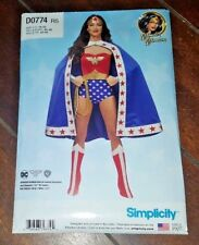 Simplicity Sewing Patterns ~D0774 WONDER WOMAN Costume Size 14-22~ Free Shipping