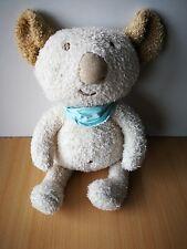 Doudou peluche Koala ecru beige Sergent Major foulard bleu