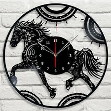 Horse  Vinyl Wall Clock Made Of Vinyl Record The Best Original Gift #1