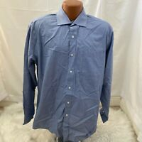 Tommy Hilfiger Regular Fit Non Iron Mens Blue Plaid Button Down Shirt Large