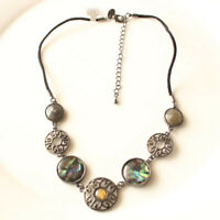 New Lia Sophia Abalone Collar Necklace Gift Fashion Women Party Holiday Jewelry