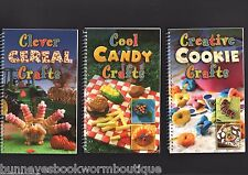 LOT 3 Food Crafts Cookbooks NEW Cookies CANDY Cereal ACTIVITIES Fun RECIPES Kids