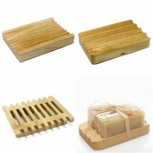 Soap Dish Hemu Natural Wood Eco Friendly Wooden Tray Holder Bath Kitchen