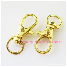 6Pcs Big Lobster Claw Clasps Key Chain Clasps Gold Silver Bronze Plated 10x23mm