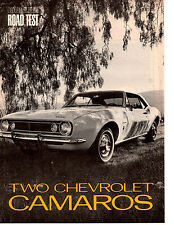1967 CHEVROLET CAMARO SS 350 & SIX ~ ORIGINAL 8-PAGE ROAD TEST / ARTICLE / AD
