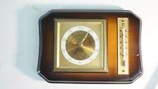 Lufft Barometer Thermometer auf Holz gecheckt 50er Jahre S1495
