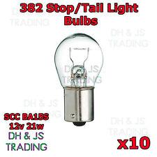 10 x 382 Brake Light Stop Indicator Tail Bulbs Reverse Car Auto Van Bulb 12v 21w
