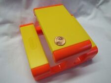 """LITTLE TIKES Dollhouse-Sized YELLOW PICNIC TABLE Furniture for 6"""" Doll"""