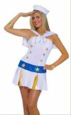 Adult Womens Sailor Fancy Dress Navy Nautical Costume Deck Hand