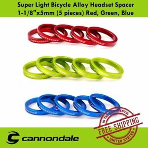 """CANNONDALE MTB Bicycle 1.5/"""" Headset Stem Fork Spacer 5mm"""