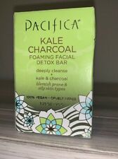 PACIFICA~~KALE CHARCOAL~FOAMING FACIAL DETOX BAR~BLEMISH & OILY SKIN 3.25 OZ NIB