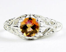 Twilight Fire Topaz, 925 Sterling Silver Ladies Ring, SR113-Handmade