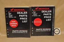 2009 Honda Motorcycle Dealer Service Part Price List Catalog Book Vol 1 & Vol 3