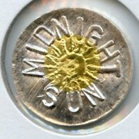 RARE STRIKE - LIMITED # Midnight Sun Alaska Bi-Metal Gold/Silver 1 DWT Gold C