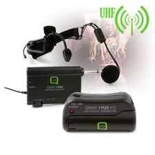 Q-Audio QWM 1900 HS UHF Wireless Headset Microphone System Channel 70