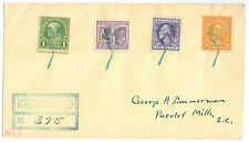 Highland Indiana, clover pictorial cancel on registered cover, 1930