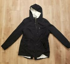 Ambience Women's Long Length Black Hooded Jacket Warm Lining Size M
