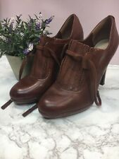 Autograph Womens Shoes Brown Leather Smart High Heel Platform Almond Toe Size 6