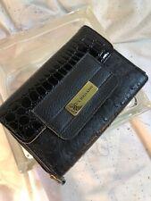 NEW•US U.S. Polo Assn Clutch Wallet Croc & Ostrich Faux leather Magnetic & Zip