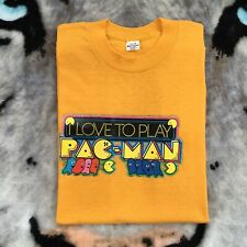 Vintage 70's Pac-man Shirt Large Fits Like 70 Game Midway
