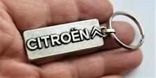 Ancien porte clé métal gravure reliel Citroën Chevrons Automobile Garage.