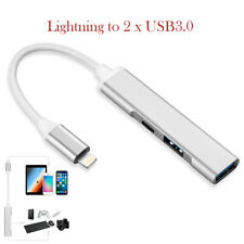 Lightning to Female USB 3.0 Hub OTG Camera Cable Adapter For iPhone 11 XS iPad