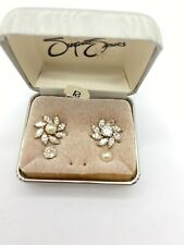 Suzanne Somers Vermeil Sterling Silver CZ And Pearl Changeable Earrings