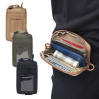 Outdoor Tactical Mens Wallet Sports Purse Molle Card Pocket Key Hanging Coin Bag
