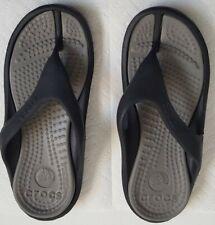 Crocs Athens Flip Flops Sandals Mens Size 6/ Women's Size 8 Black/Gray