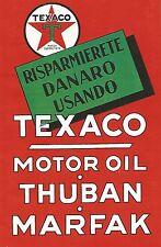 W9679 Risparmiate denaro usando TEXACO Motor Oil - Pubblicità del 1936 - Old ad