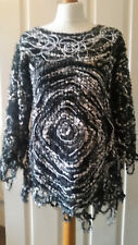 Handmade Assymetrical Crazy Wool Tunic Ladies Womans Size S