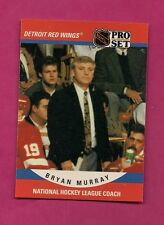 1990-91 PRO SET # 664 WINGS BRYAN MURRAY COACH ROOKIE CARD (INV# A2239)